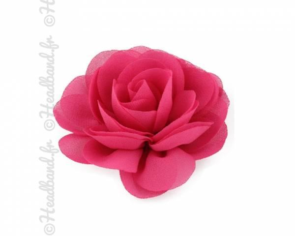 Pince fleur mousseline fushia