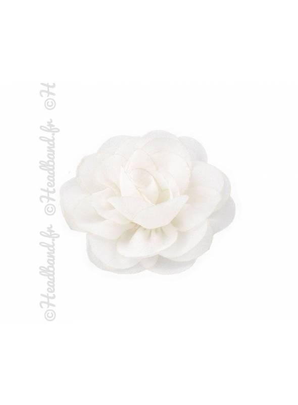 Pince fleur mousseline blanc