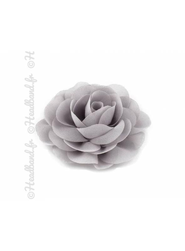 Pince fleur mousseline gris