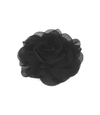Pince fleur mousseline noir