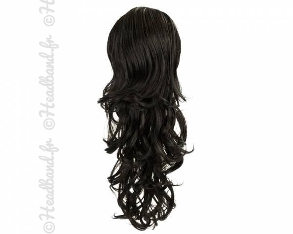 Maxi ponytail bouclée - Noir