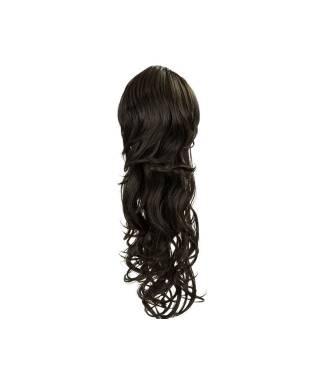 Maxi ponytail bouclée - Brun
