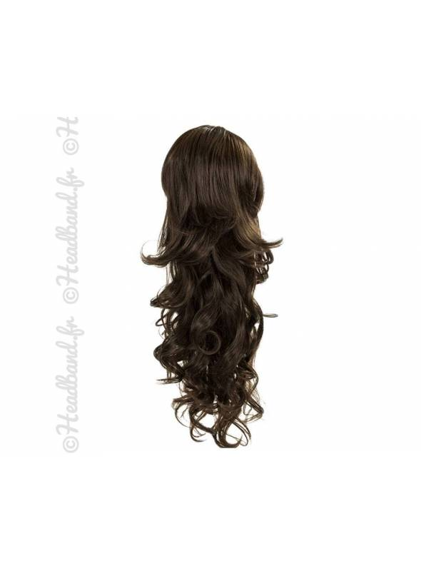 Maxi ponytail bouclée - Châtain foncé
