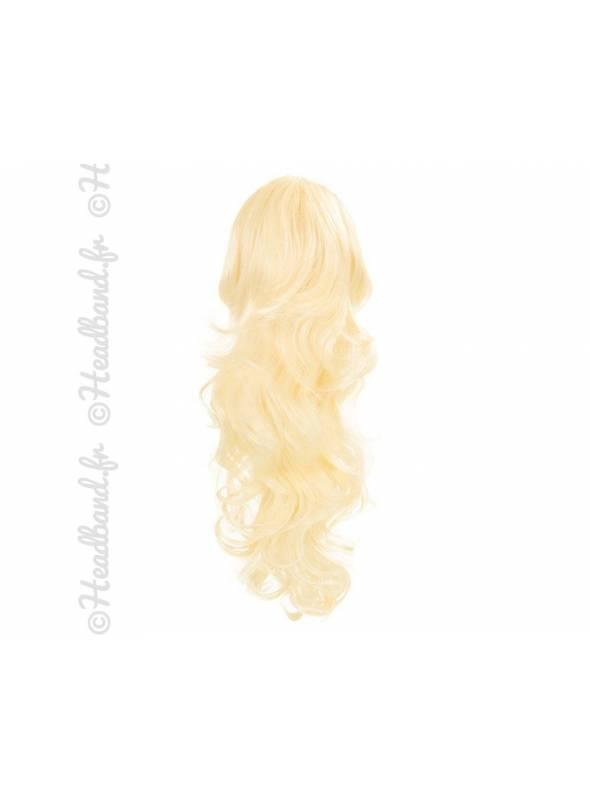 Maxi ponytail bouclée -Platine
