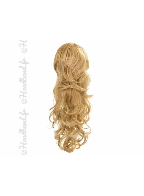 Maxi ponytail bouclée - Blond miel