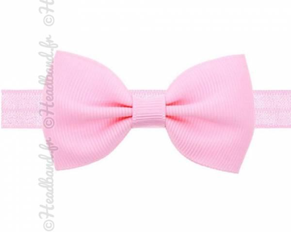 Headband noeud stretch rose clair