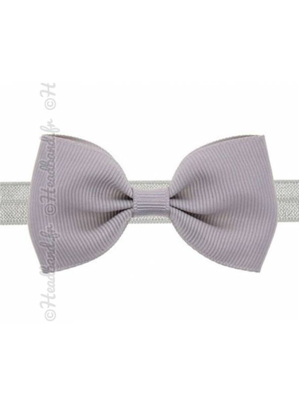 Headband noeud stretch gris