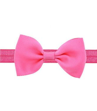 Headband noeud stretch fushia