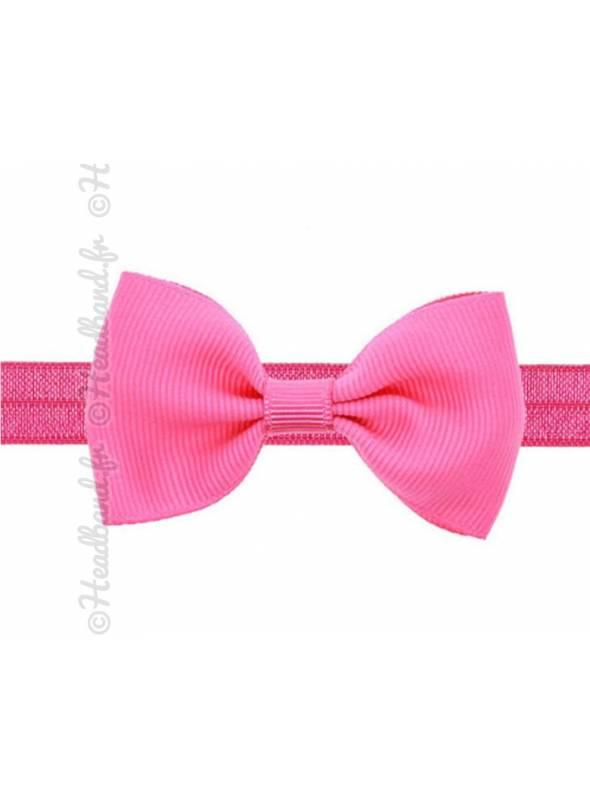 Headband noeud stretch fushia