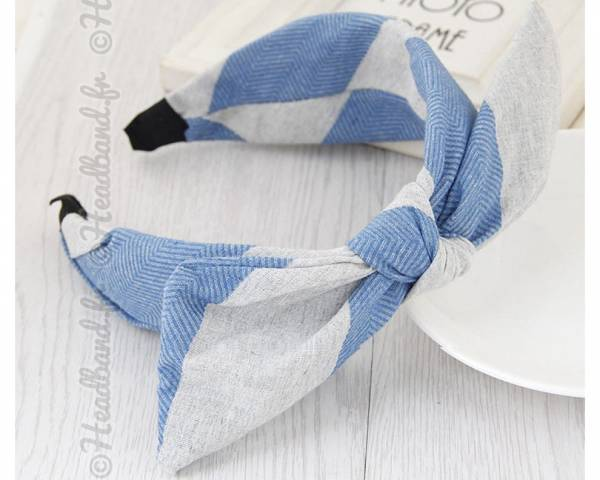 Serre-tête chevrons bleu