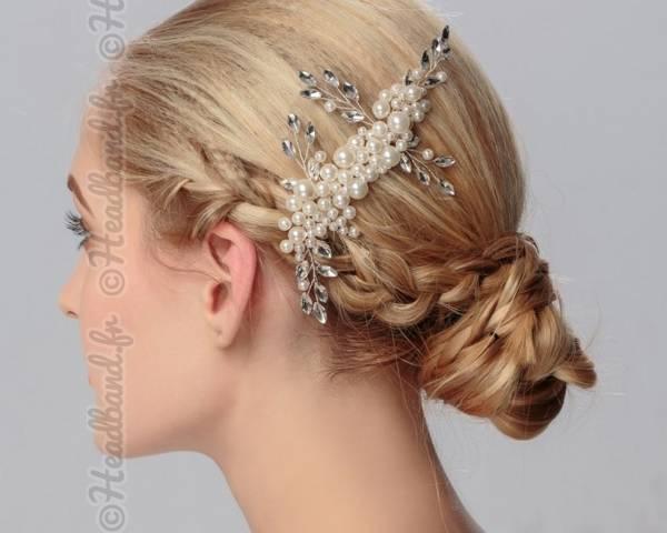 Peigne cascade de perles