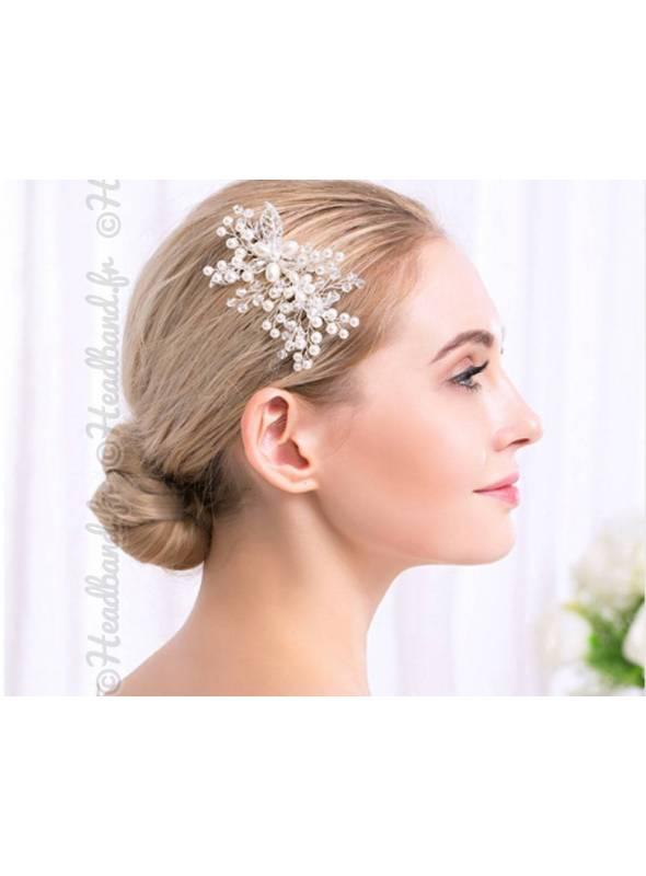 Peigne Marianne perles porté