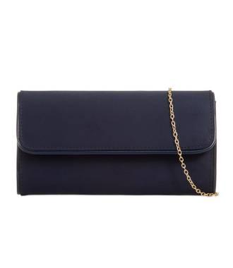 Pochette coutures vinyle bleu