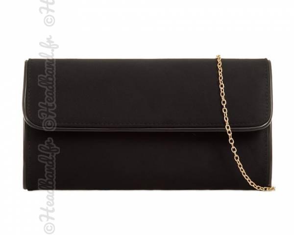 Pochette coutures vinyle noir