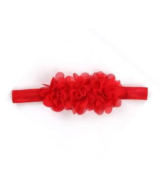 Bandeau mousseline rouge