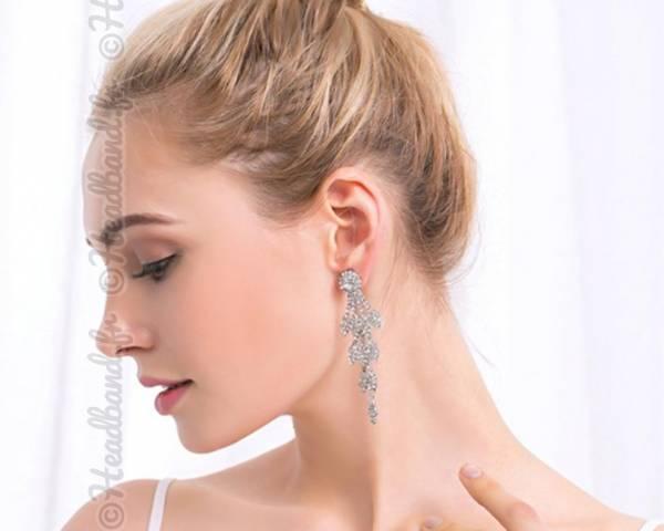 Boucles d'oreilles soirée cristaux Octavie