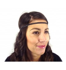 Headband simple noir porté
