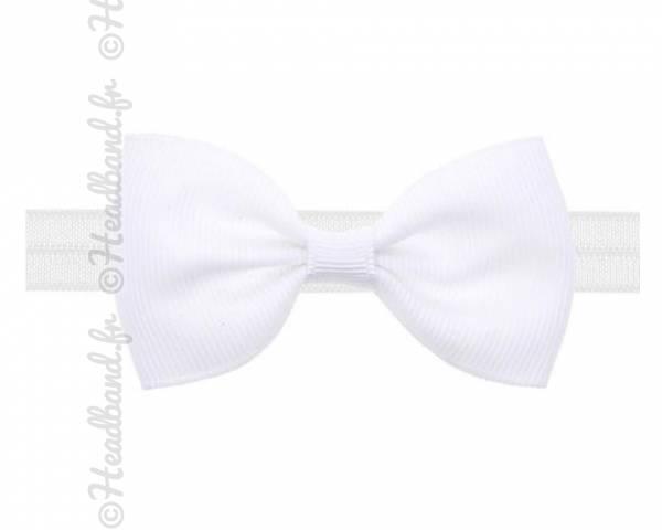 Headband noeud stretch blanc