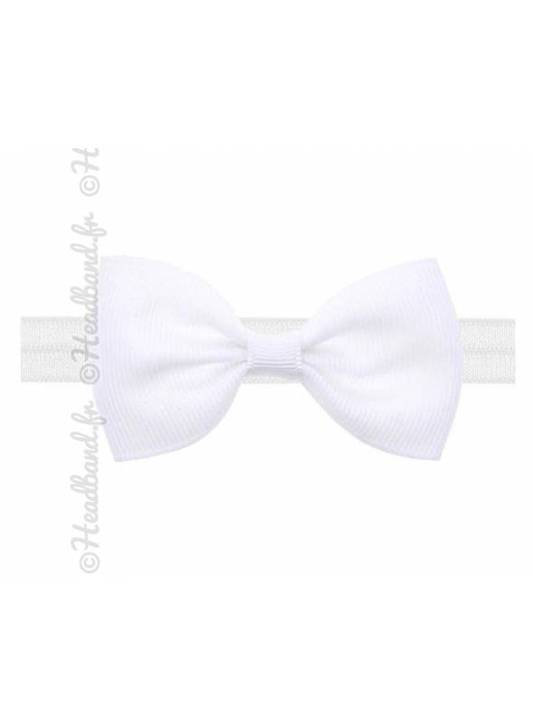 Headband noeud stretch blanc