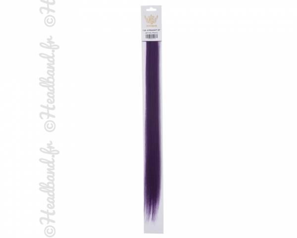 Mèches à clip violet x 2