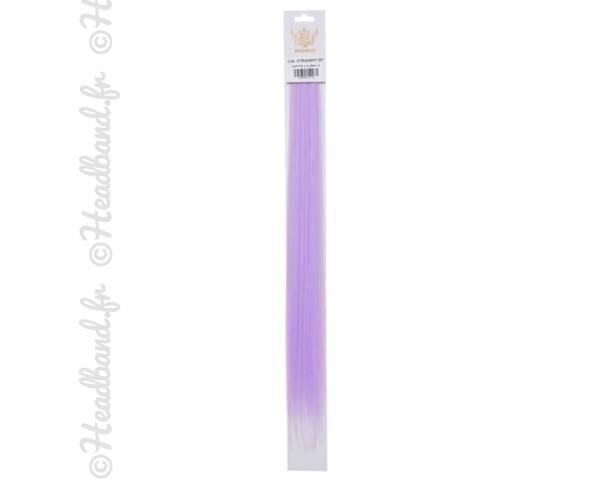 Mèches à clip lilas