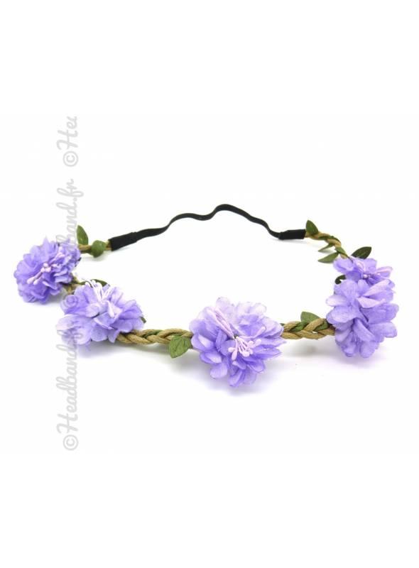 Couronne de fleurs violette