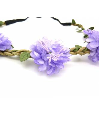 Couronne de fleurs violette 2