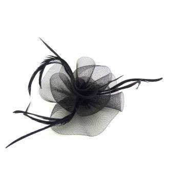Mini chapeau tulle noir