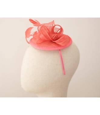 Serre-tête chapeau corail