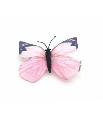 Barrette papillon décorée enfant