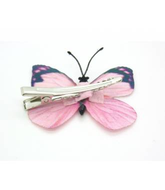 Barrette papillon décorée enfant dos