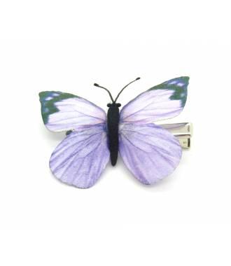 Barrette papillon violette