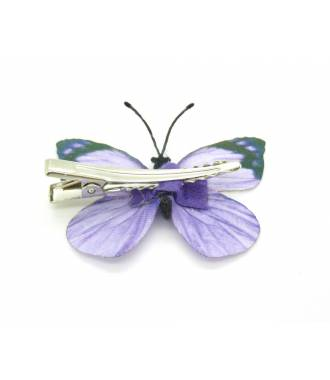 Barrette papillon violette dos
