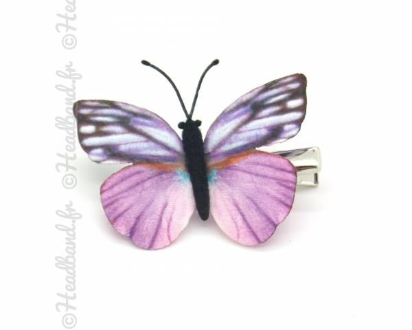 Barrette papillon tissu
