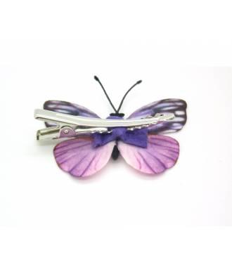 Barrette papillon tissu zoom