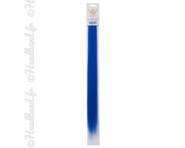 Mèches à clip bleu x 2