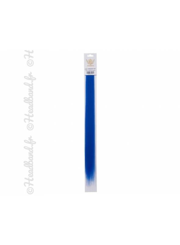 Mèches à clip bleu