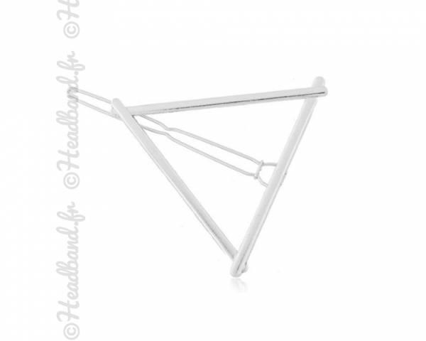 Barrette métal triangle