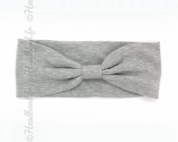 Bandeau large gris clair