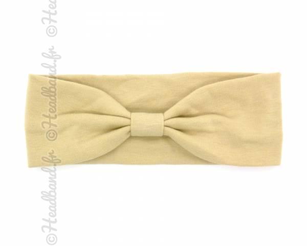 Headband jersey beige