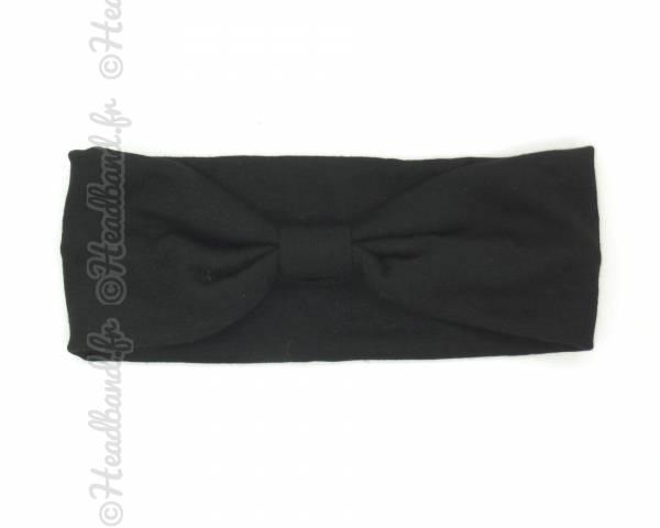 Bandeau turban nœud noir