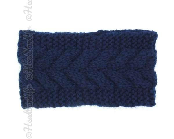 Bandeau côtelé bleu marine
