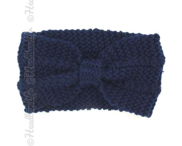 Bandeau nœud maille bleu