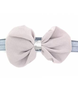 Headband noeud organza gris zoom