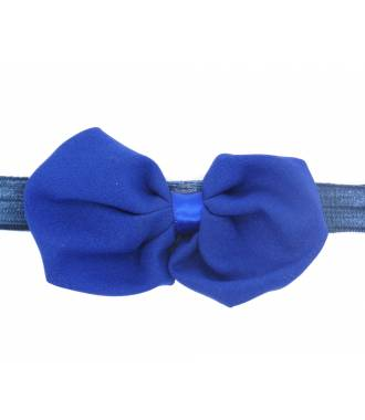 Headband noeud organza bleu zoom