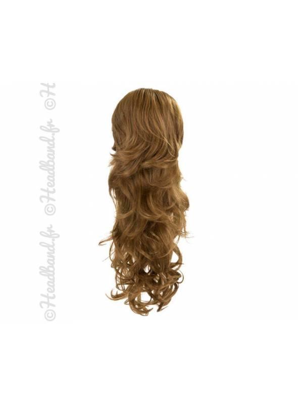Maxi ponytail bouclée - Châtain doré