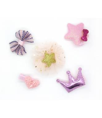 Set accessoires couronne rose