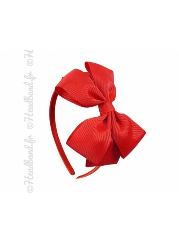 Serre-tête noeud fille rouge