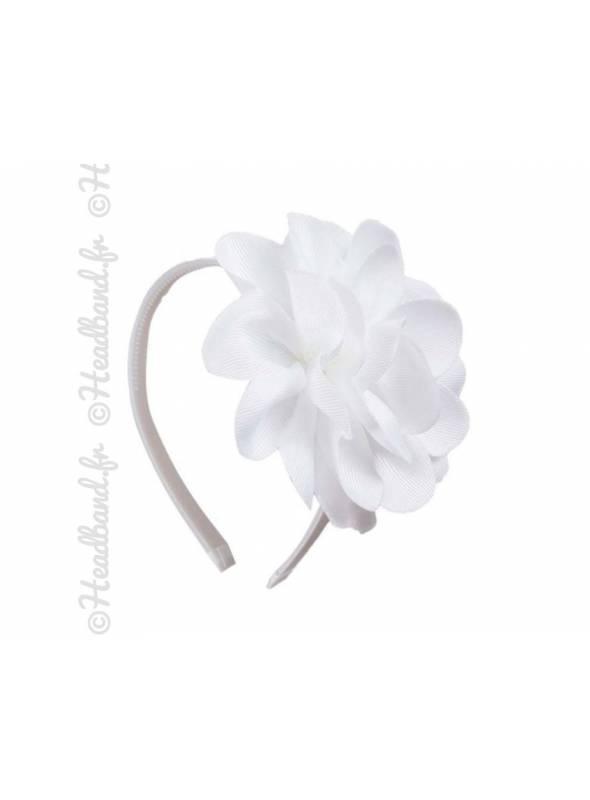 Serre-tête fleur enfant blanc