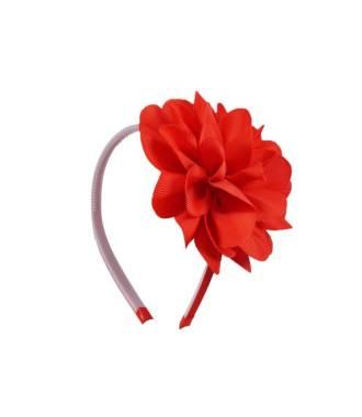 Serre-tête fleur enfant rouge